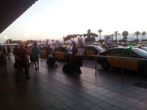 Outside Barcelona airport